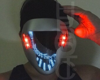 Taurus II fx Robot Mask - Light Up Mask for Dj Rave Helmet Led Mask Ai Costume Cosplay Cyborg Party Edm Mask