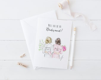 Custom Will you be my Bridesmaid? (Card)  (Bridesmaid Cards- Will you be my bridesmaid -  Personalized Bridesmaid Gift - Bridesmaid Gifts)