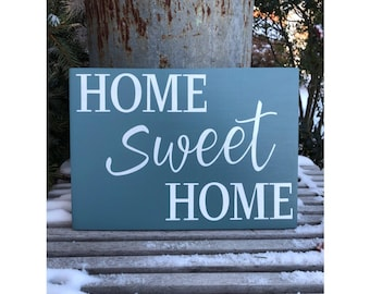 Home Sweet Home - Hand Painted Sign - Home Sign - Wooden Sign - Housewarming