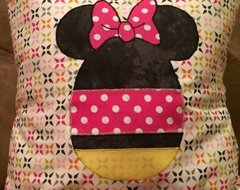 Minnie Mouse Easter Egg Throw Pillow