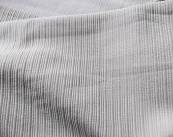 Sage Green Doubleknit Fabric with Horizontal Lines-1+ Yards 66 Inches Wide