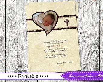 Baptism Invitation Boy/Girl, Neutral Baptism Invitation, Printable Baptism Invitation, Party Invite Neutral