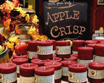Apple Crisp DOUBLE FRAGRANCE Pillar Candles