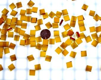 Medium Amber Waterglass Tiles