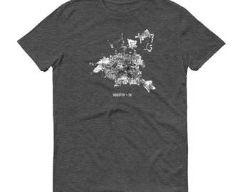 Houston Shirt, Houston TX, Houston TShirt, Houston Gift, Houston Tee, Houston Map, exas Shirt, Texas Map, Houston Art, Houston Texas