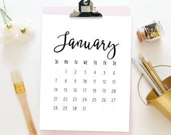 Calendar printable, Monthly calendar 2018, Desk calendar 2018, Printable calendar pages, Funny calendar 2018, Downloadable wall calender pdf