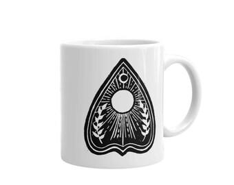 PLANCHETTE Mug, Ouija Mug, Occult Mug