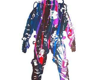 Astronaut Dream - Digital download, hi-res, downloadable art, 1AEON, Astronaut, download instantly, print, multicolor print
