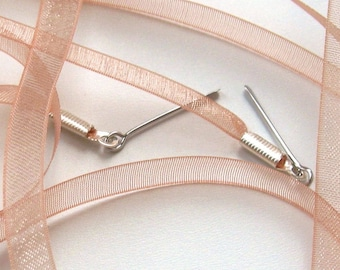 "THE SHOELACES SHOP-Dusty Peach Organza Ribbon Shoelaces, Ribbon Shoe Laces, Orange Shoelaces, Organza Shoelaces, Tan Shoelaces, ""Peachy"""