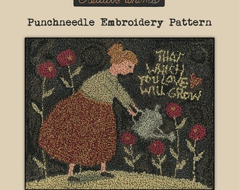 Punchneedle   Pattern   Needlwork   DIY   Crafts   Grow   PN089