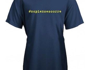 Running round neck kids t-shirt #NOPIENSESCORRE