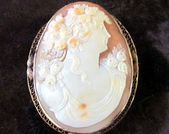 14 K large old Cameo