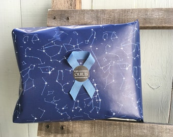 Ecofriendly Wrapping Paper - Navy Constellation Map, Includes one roll
