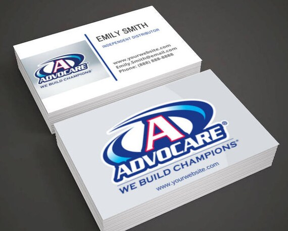 Advocare business cards for independent distributor colourmoves