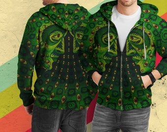 awesome psychedelic hoodie sweater full print custom design ByoM7yNN3D