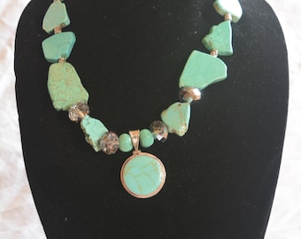 Sweet & Sassy - turquoise, sterling silver necklace
