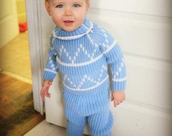 Blue sweater set