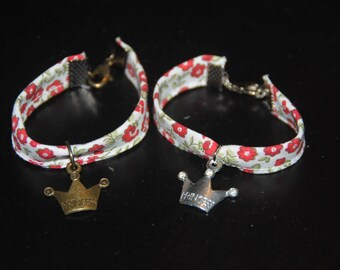 Fabric Princess charm bracelet