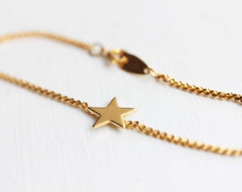 Gouden ster armband, ster armband