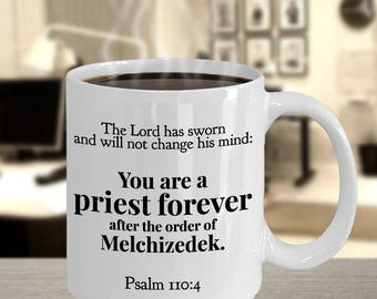 """Priest Gift Idea - """"...You Are a Priest Forever...[see full verse in description]   - Favorite Bible Verse - Priest Ordination Gift Idea"""