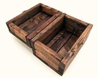 Rustic 4x6 Photo Box - Handmade 4 x 6 Recipe Card Box - Wooden Memory Box, Wedding Box, Keepsake Box with Lid, Foodie Gift, Anniversary Gift