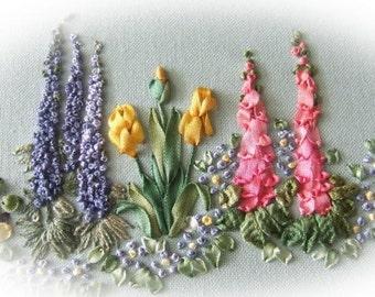 PDF Spring Garden Silk Ribbon pattern
