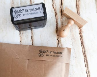 Thank You For Your Order Rubber Stamp or Self Inking Stamp