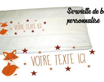 LITTLE FOX 50 X 100 personalized bath TOWEL