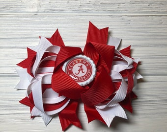 "Alabama Crimson Tide 5.5"" hair Bow"