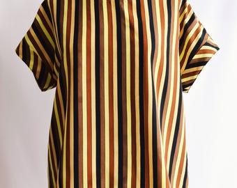 Vertical Handmade striped blouse.