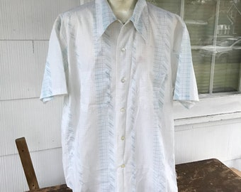 1970s Mr Dee Cee Mens ss Shirt Washington Mfg Co USA
