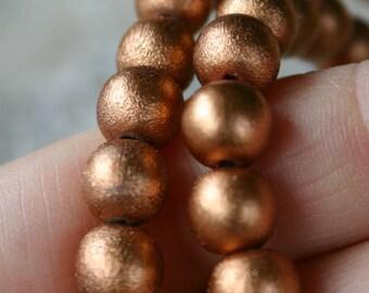 66pcs 12mm Metallic Copper Wood Natural Beads Round Macrame Bead