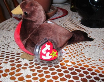 EARLY Ty Beanie Baby Robin Bird Original with tag errors