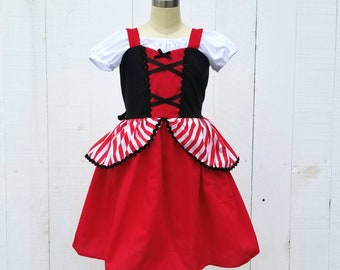 Pirate costume, girls Pirate costume, Halloween costume for girls, toddler costumes, Pirate dress , Captain Hook costume, pirate sundress