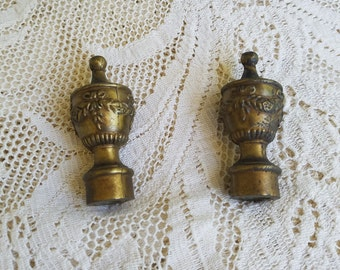 Vintage, Victorian, Chic, Set of Finials, Lamp Finials, Brass Decorative,Lamp Toppers