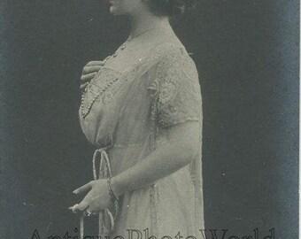 Russian opera singer Kuznetsova in costume antique photo pc