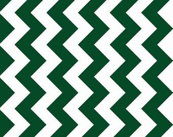 LAST PIECE - Riley Blake Designs Chevron Hunter Green Medium Quilting Apparel Fabric