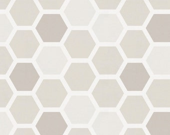 Taupe Honeycomb Organic Fabric - By The Yard - Boy / Girl / Gender Neutral