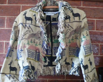 Woven Indian alpaca jacket