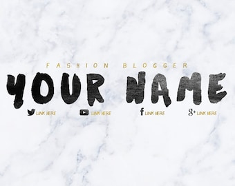 marble gold font youtube banner custom