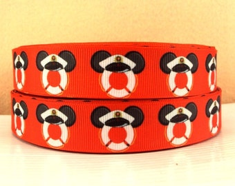 5 YDS Mickey Mouse Red Buoy Ribbon