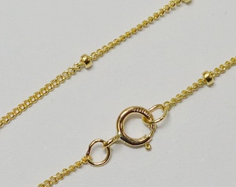 14k Gold Filled 1.9mm Satellite Finished Chain, Necklace, 14 Inch, 15 Inch, 16 Inch, 18 Inch, 20 Inch, USA