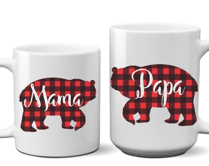 Featured listing image: Set Mama Bear Mug, Papa Bear Mama Bear, Papa and Mama Bear, Papa Bear Mug, Papa and Mama Bear Mugs, Papa Bear Mama Bear Mugs, Papa Mama Bear