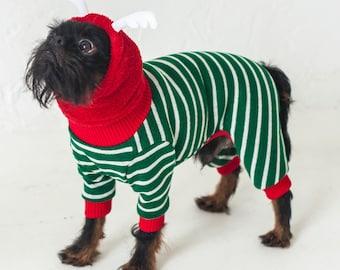 Soft and Cozy Dog Full Body Suit - Christmas - Gift - Dog Pyjamas - Plush Coat - Dog at Home - Xolo - Chinese Chested - Greyhound - Custom
