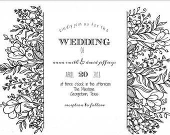 Wildflowers Invitation printable