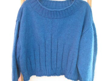 Blue mohair sweater