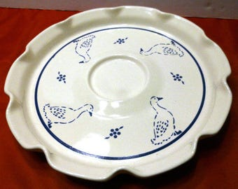 Vintage Spectrum Pfaltzgraff Country Fair Chip & Dip Hors D'Oeuvre Plate, Discontinued 1983-1987