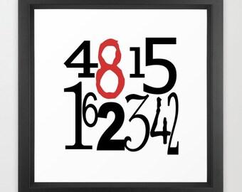 Lost Numbers, Lost Print, 4815162342, Lost Tv Show, Hugo Reyes, Jack Shepard, Dharma Initiative, The Numbers, Kate Austen, The Island, AMC
