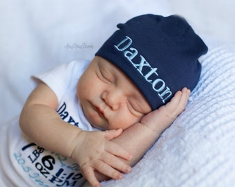 Embroidered Baby Hat - Coming Home Hospital Hat - Baby Boy Or Girl - ANY COLORS - Newborn Hat , Cap
