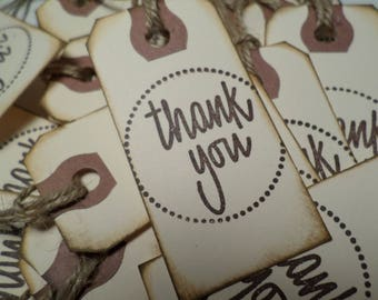 "25 THANK YOU TAGS= Gift Tags-  (1.75""x3"")"